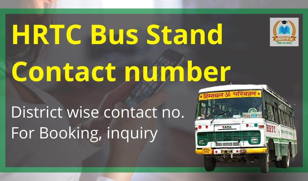 HRTC Bus Stand Contact Numbers