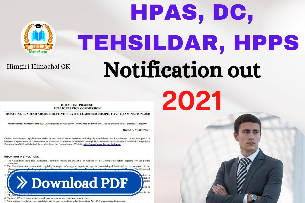 HPAS 2021 Notification out